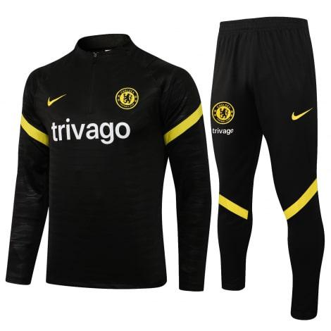 Черный тренировочный костюм Челси 2021-2022