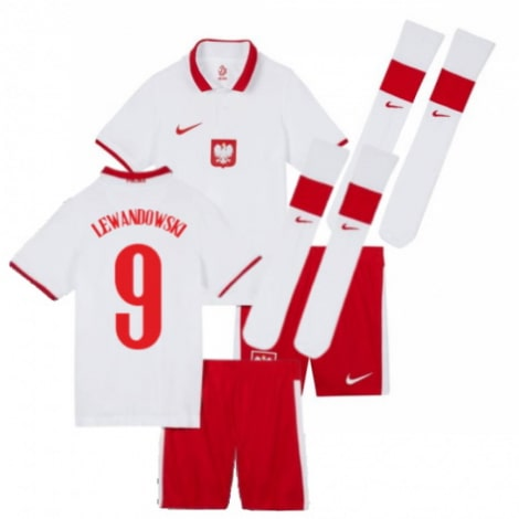 Детская домашняя форма Польши Левандовски на ЕВРО 2020-21
