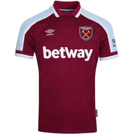 Комплект детской домашней формы Вест Хэм 2021-2022 футболка