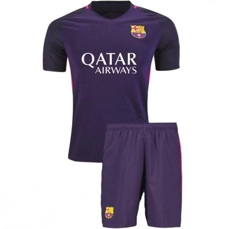 Гостевая футбольная форма Барселоны 2016-2017