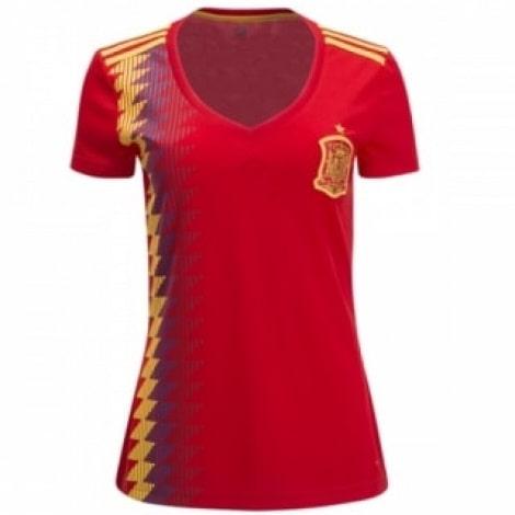 Женская домашняя футболка сборной Испании на ЧМ 2018