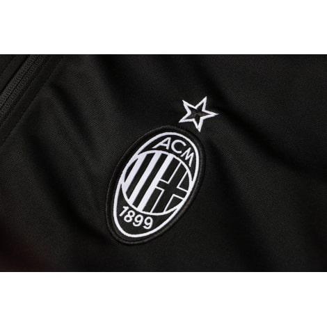 Красно-черный спортивный костюм Милан 2021-2022 герб клуба