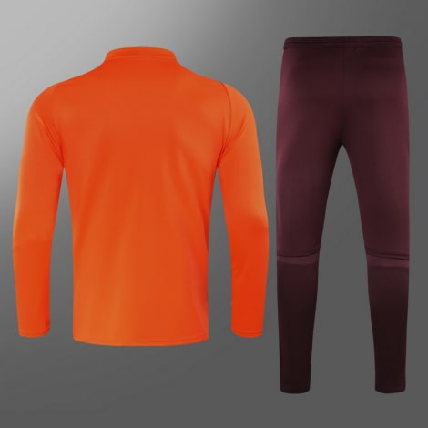 Бордово-оранжевый костюм Реал Мадрид 2021-2022 сзади