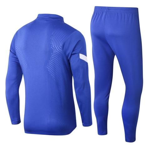 Сине-белый тренировочный костюм Челси 2021-2022 сзади