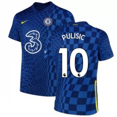 Домашняя игровая футболка Челси 2021-2022 Кристиан Пулишич