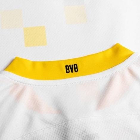 Третья форма Боруссии Д 2020-2021 c длинными рукавами футболка воротник сзади