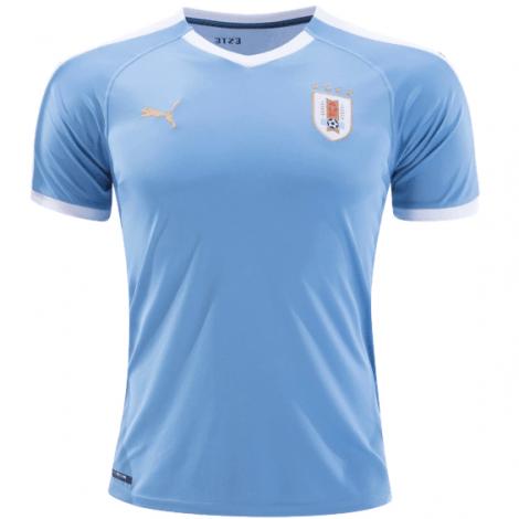 Домашний комплект детской формы Уругвая 2019-2020 футболка