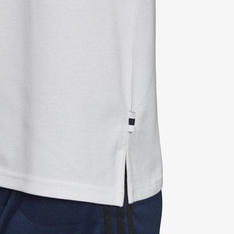 Футболка поло Реал Мадрид бело-синяя 2019-2020 снизу