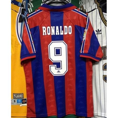 Домашняя ретро футболка Барселоны 1996-1997 RONALDO 9