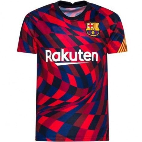 Цветная тренировочная футболка Барселоны 2020-2021