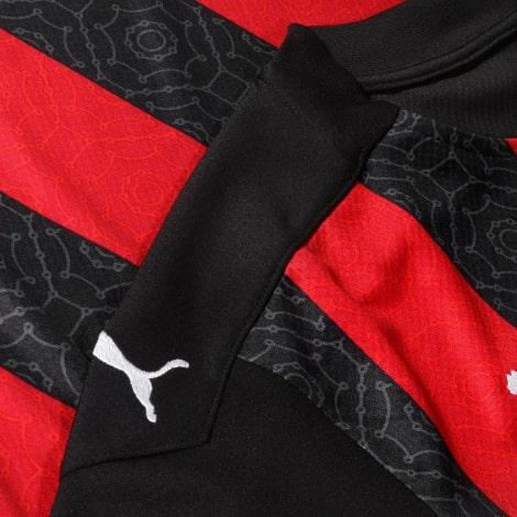 Домашняя игровая футболка Милан 2020-2021 плечо