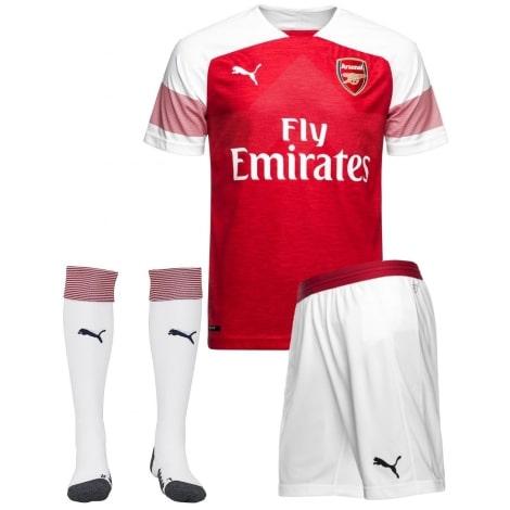 Взрослая домашняя футбольная форма Арсенал 2018-2019 футболка, шорты и гетры