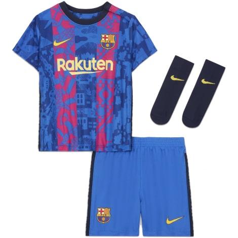 Комплект детской третьей формы Барселоны 2021-2022