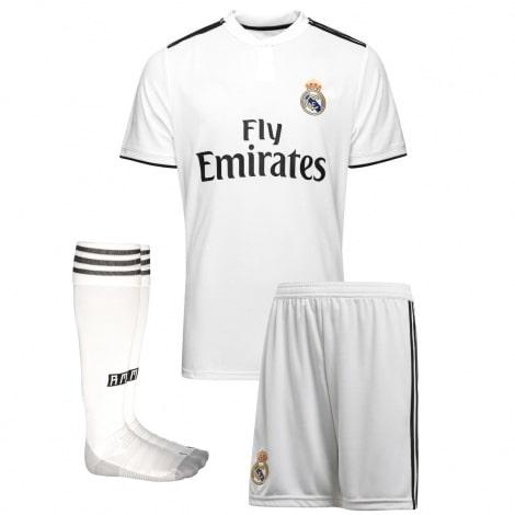 Взрослый комплект домашней формы Реал Мадрид 2018-2019 футболка шорты и гетры