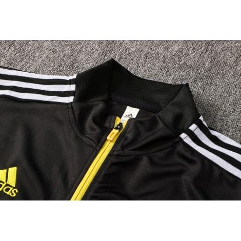 Черный спортивный костюм Ювентуса 2021-2022 воротник