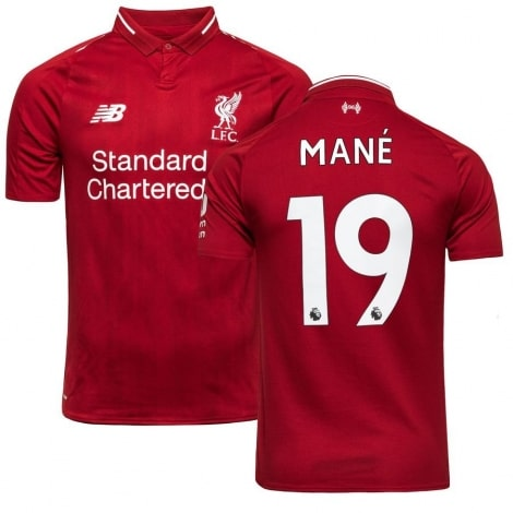 Домашняя футболка Ливерпуля 2018-2019 Садио Мане номер 19