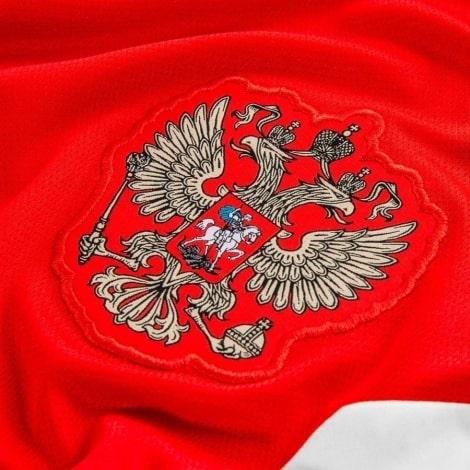 Домашняя футболка сборной России Артем Дзюба номер 22 ЧМ 2018 герб