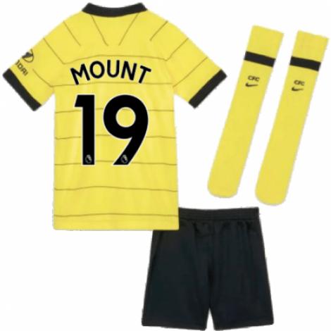 Детская гостевая форма Челси Мейсон Маунт 2021-2022