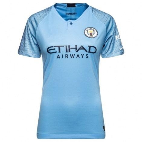 Женская домашняя футболка Манчестер Сити 2018-2019