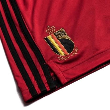Детская домашняя форма Бельгии Эден Азар на ЕВРО 2020-21 шорты герб сборной