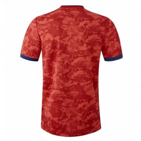 Комплект взрослой гостевой формы Лион 2021-2022 футболка сзади