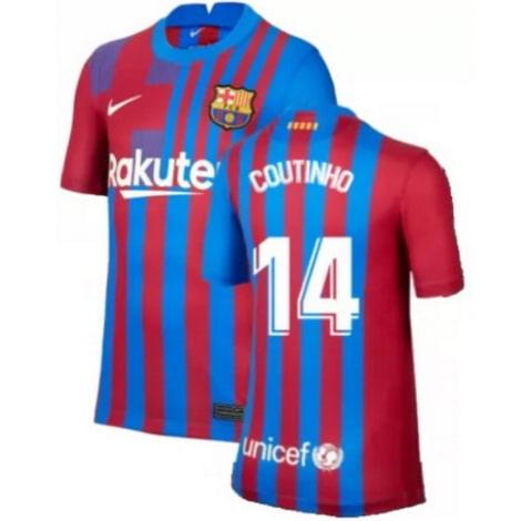 Детская домашняя футбольная форма Коутиньо 2021-2022