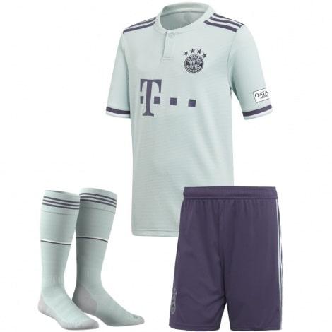 Комплект детской гостевой формы Баварии 2018-2019 футболка шорты и гетры
