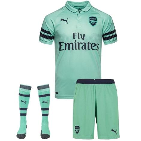 Комплект детской третьей формы Арсенала 2018-2019 футболка шорты и гетры