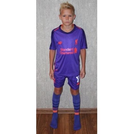 Детская гостевая футбольная форма Ливерпуль 2018-2019 футболка, шорты и гетры