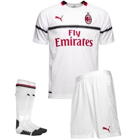 Детская гостевая футбольная форма Милан 2018-2019