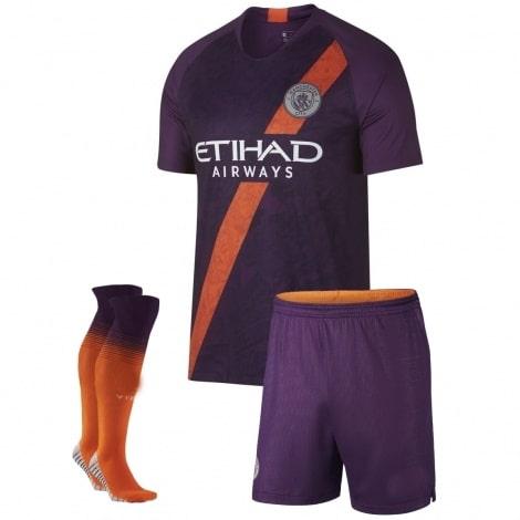 Взрослая третья форма Манчестер Сити 2018-2019 футболка шорты и гетры