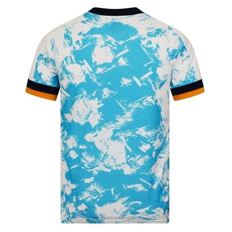 Гостевая игровая футболка Вулверхэмптона 20-21 сзади