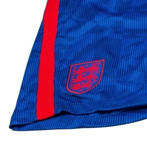 Детский комплект гостевой формы Англии на ЕВРО 2020-21 шорты герб сборной