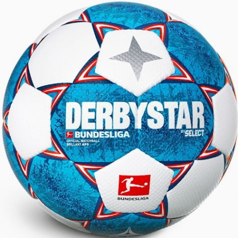 Сине белый мяч БундесЛиги по футболу 2021-2022