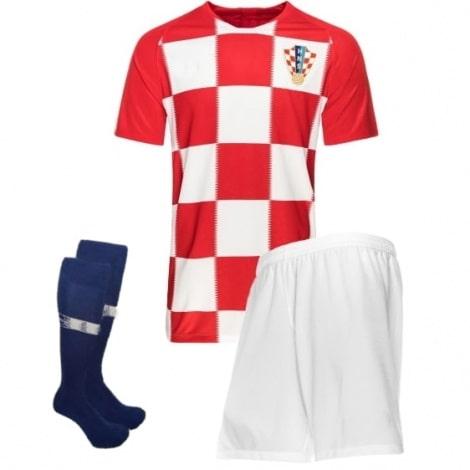 Детская домашняя форма Хорватии Модрич ЧМ 2018 футболка шорты и гетры
