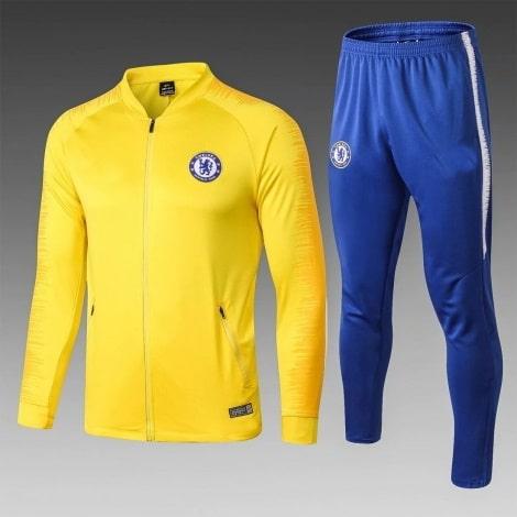 Взрослый желто-синий тренировочный костюм Челси 2018-2019