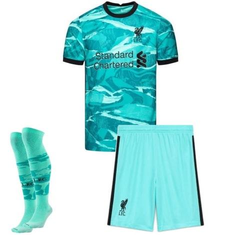 Комплект взрослой гостевой формы Ливерпуля 2020-2021 футболка шорты и гетры