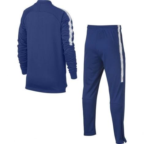 Взрослый синий тренировочный костюм Челси 2018-2019 кофта и штаны сзади