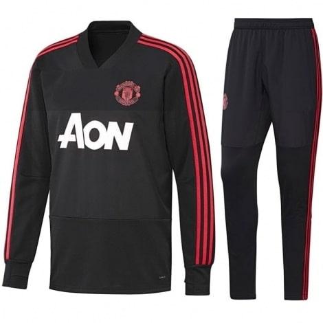 Взрослый черный костюм Манчестер Юнайтед 2018-2019