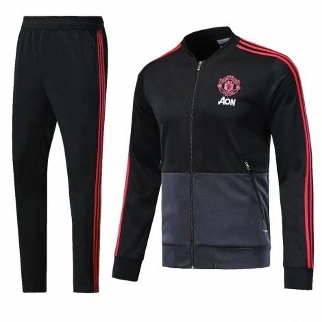 Взрослый черно-серый костюм Манчестер Юнайтед 2018-2019