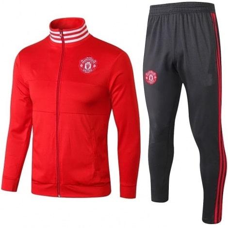 Взрослый красно-серый костюм Манчестер Юнайтед 2018-2019