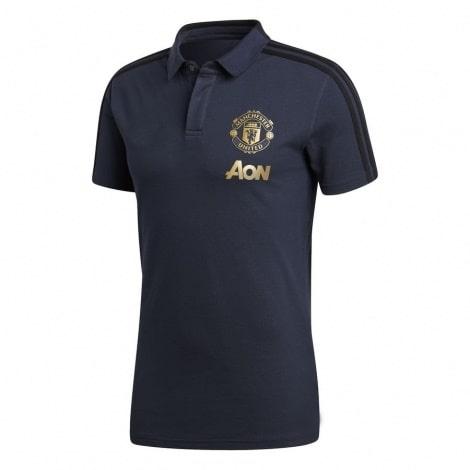 Синяя футболка поло Манчестер Юнайтед 2018-2019