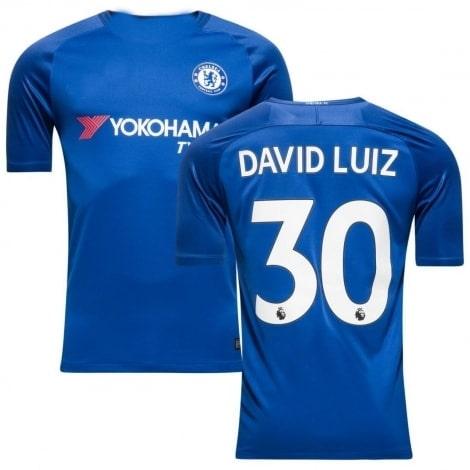Домашняя игровая футболка Челси 2017-2018 Давид Луис