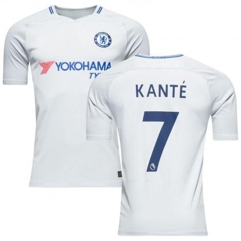 Гостевая игровая футболка Челси 2017-2018 Канте
