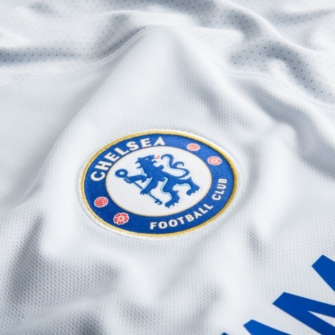 Белая гостевая игровая футболка Челси 2017-2018