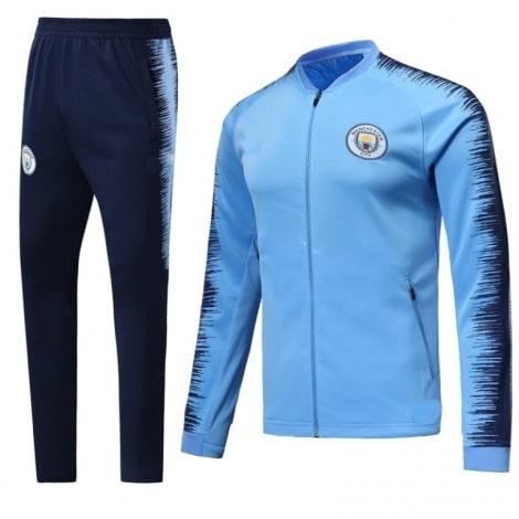 Взрослый сине-голубой костюм Ман Сити 2018-2019