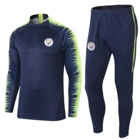 Взрослый сине-зеленый костюм Манчестер Сити 18-19