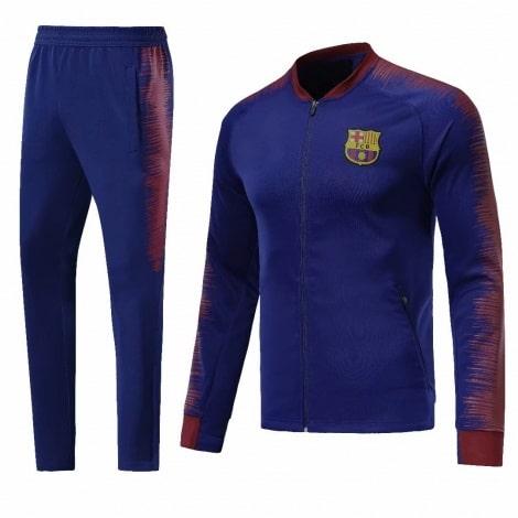 Взрослый сине-гранатовый костюм Барселоны 18-19