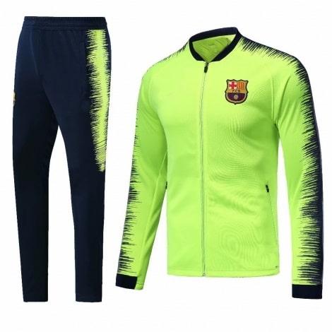 Взрослый сине-желтый костюм Барселоны 18-19 кофта и штаны