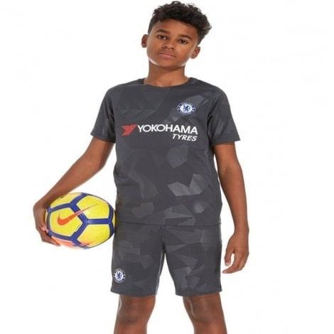Детская третья футбольная форма Челси 2017-2018 вид спереди
